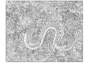 Dragons Coloring Pages For Adults