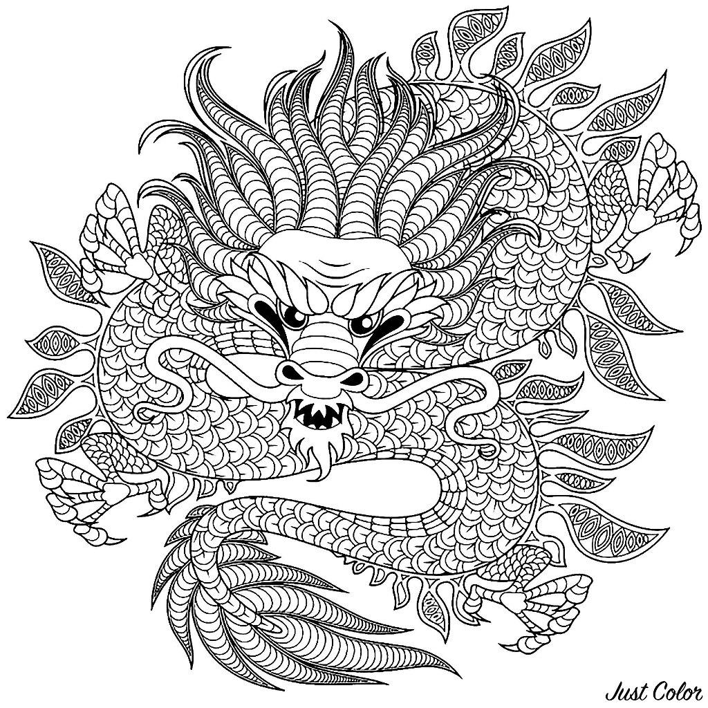 Incredible Dragon, in a circular drawing