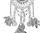 Dreamcatchers Coloring Pages for Adults