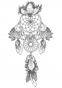graphic regarding Legend of the Dreamcatcher Printable titled Dreamcatchers - Coloring Web pages for Grownups