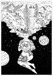 Beautiful Coloring Page For The Earth Day Goddess Of Sun Holds To Create Life