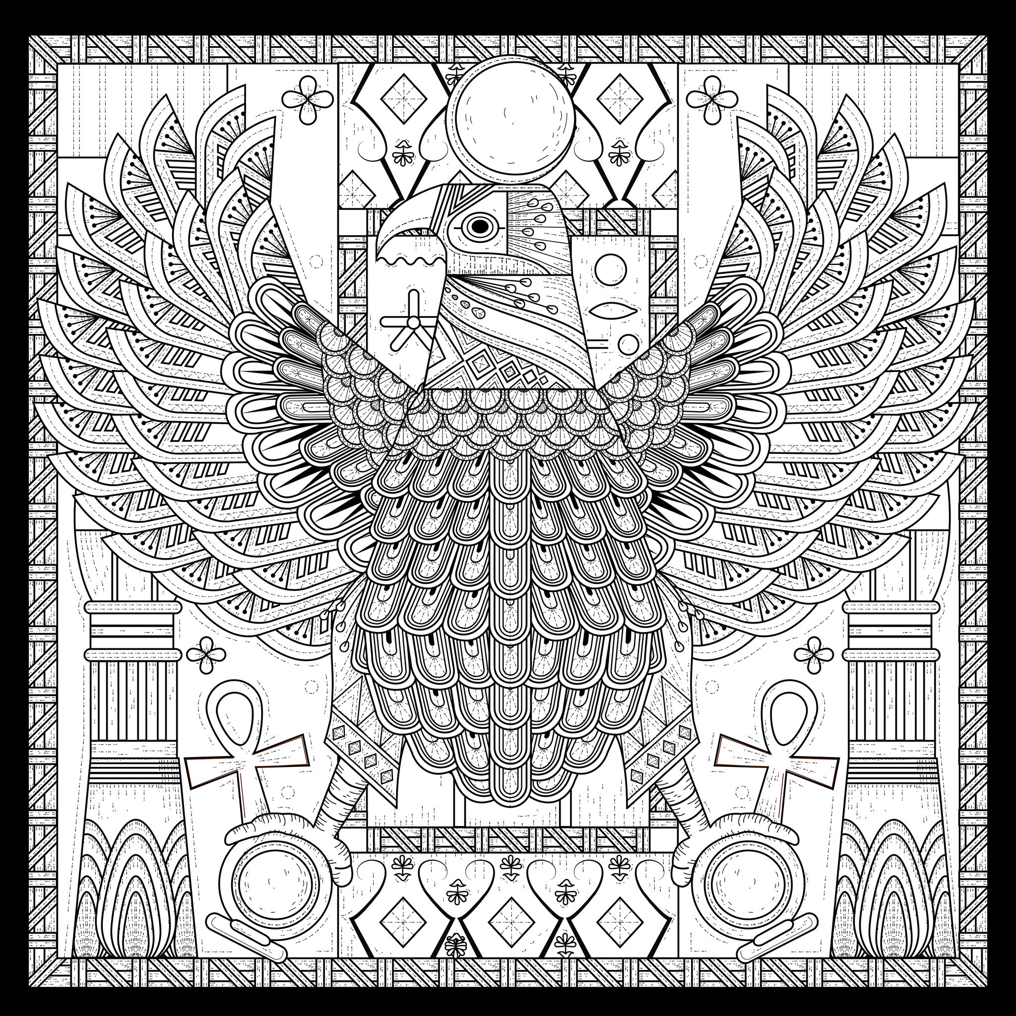 Egypt Eagle Egyptian Style With Symbols Egypt Adult