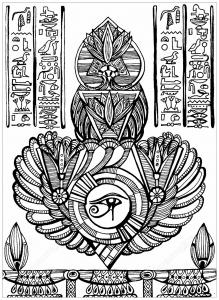 coloring eye of horus