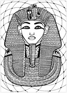 coloring pharaoh