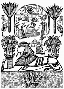 Sphynx and Hieroglyphs