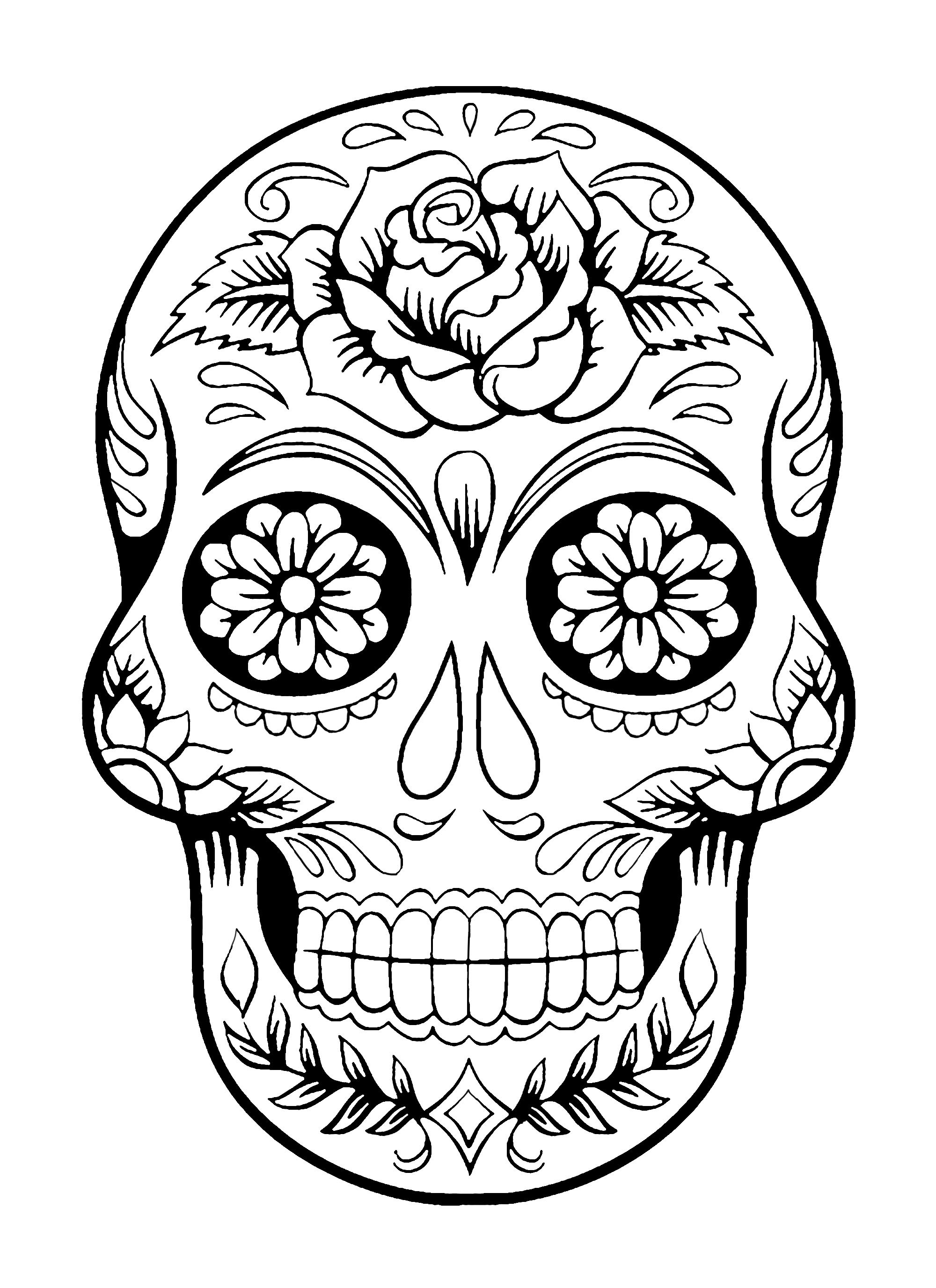 - El Dia De Los Muertos 4 - Fishes Coloring Pages For Adults Adult