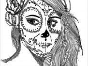 El Día de los Muertos Coloring Pages for Adults