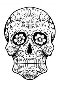 Coloring el dia de los muertos 3
