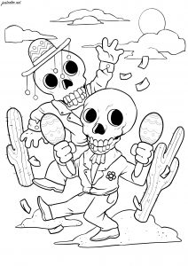 The dancing skeletons