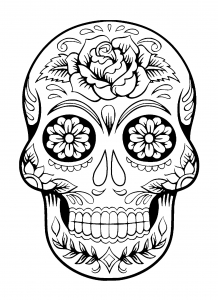 Sugar skull - Coloring Pages for Adults
