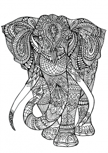 coloring-adult-elephant-patterns