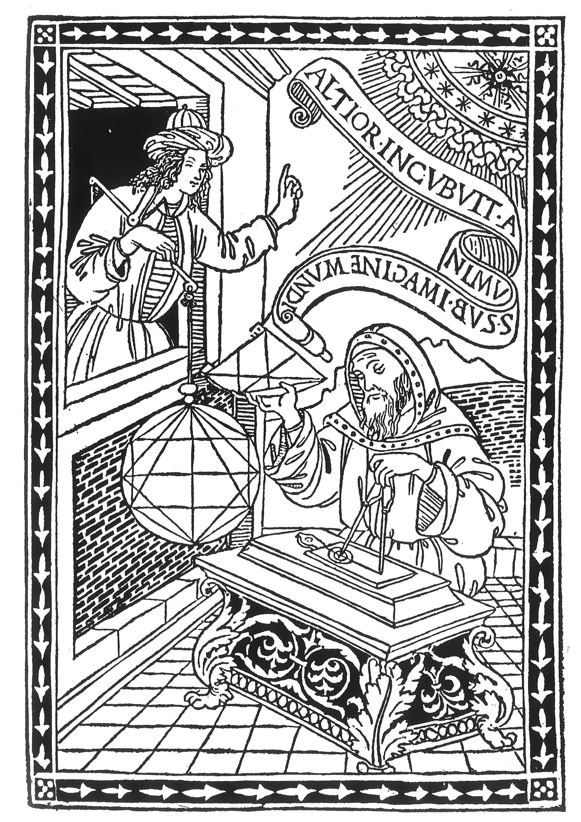 Middle ages engraving