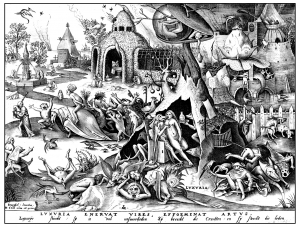 Coloring adult engraving pieter bruegel luxuria