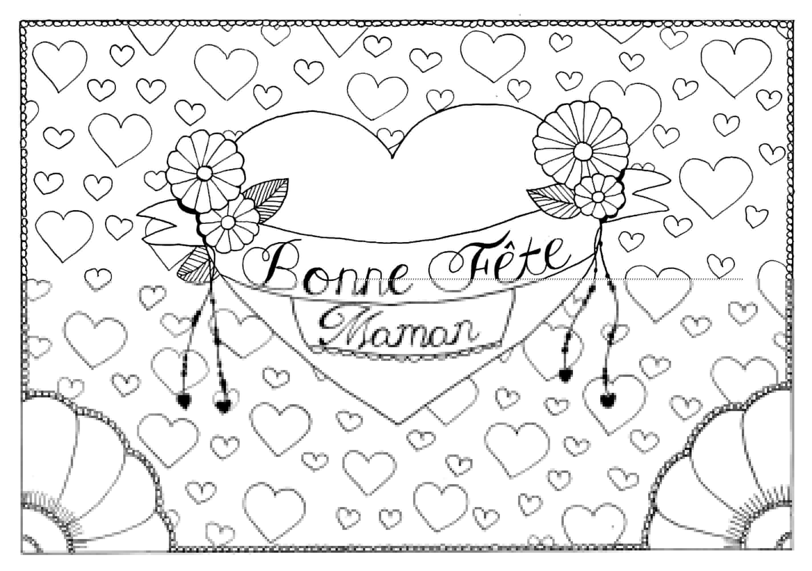 Coloring sheets for mothers day - Acoloring Page For The Mother S Day From The Gallery Events Celebrations Artist
