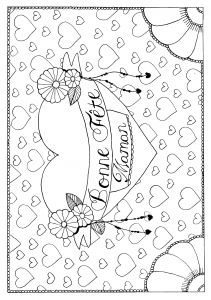 coloring page mother day by pauline