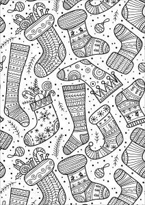 Coloring christmas socks 1