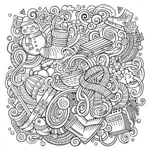 Cartoon doodles : Winter is here