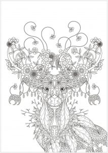 Deer with Flower patterns