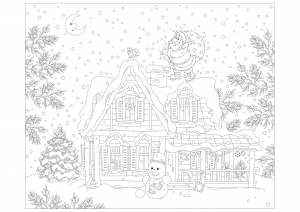 photo relating to Free Printable Adult Christmas Coloring Pages called Xmas - Coloring Internet pages for Grownups