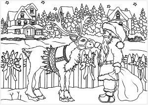 Santa's Workshop Christmas Coloring Pages | 213x300