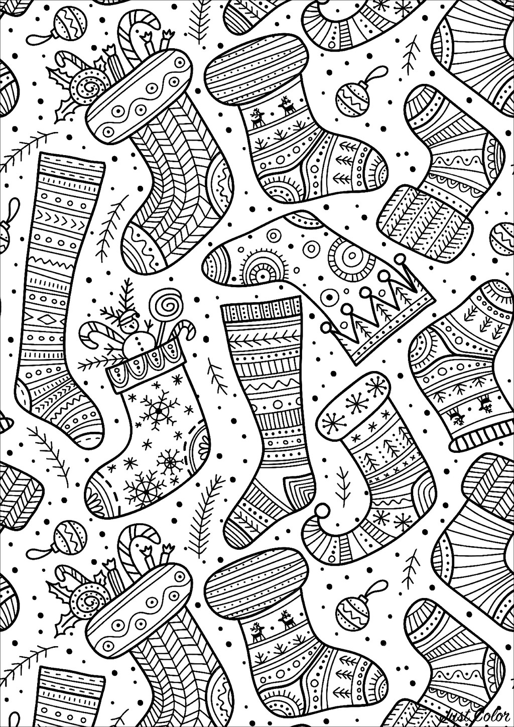 Cute Christmas socks with various and happy designs