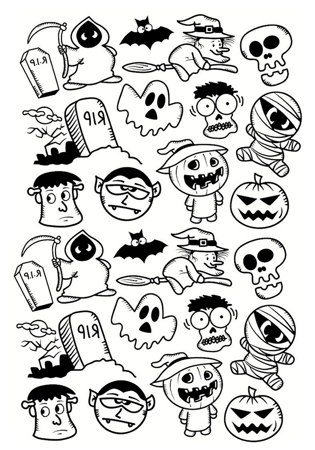 halloween coloring pages printables adults - photo#43