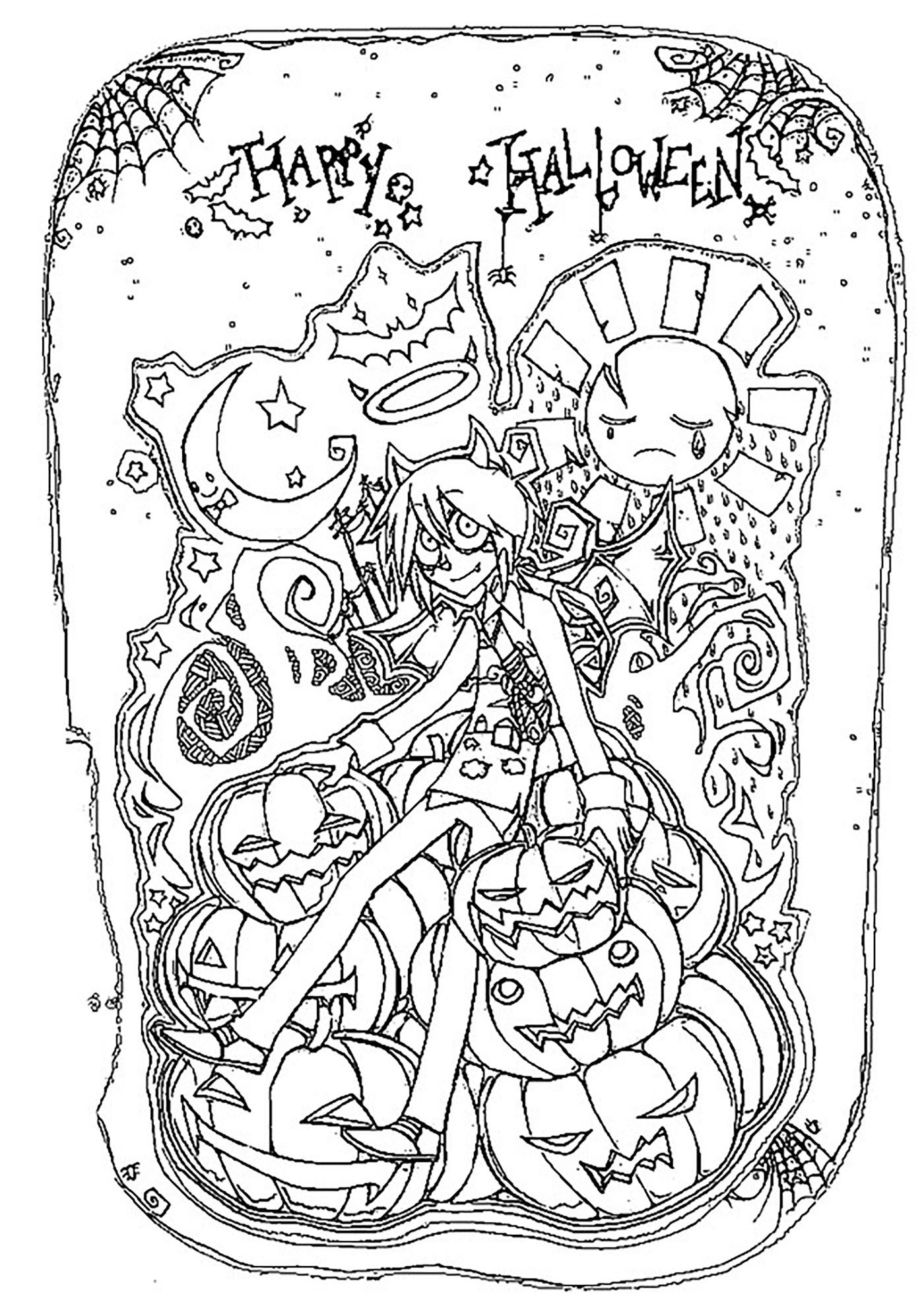 Halloween Coloring pages for adults coloring adult halloween