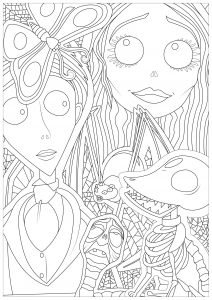 Coloring corpse bride