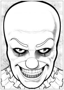Coloring halloween pennywise it