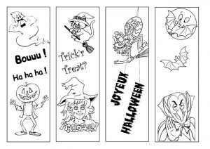 Coloring halloween simple characters