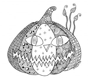 Coloring hallowen pumpkin by azyrielle