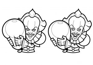 Cartoon drawings of Pennywise