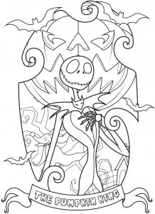 Coloring jack skellington king of halloween town complex