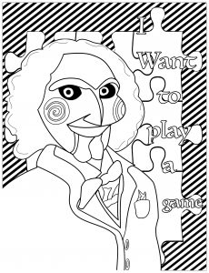Coloring jigsaw billy the puppet saw