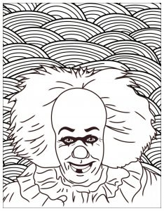 Horror coloring page it clown pennywise