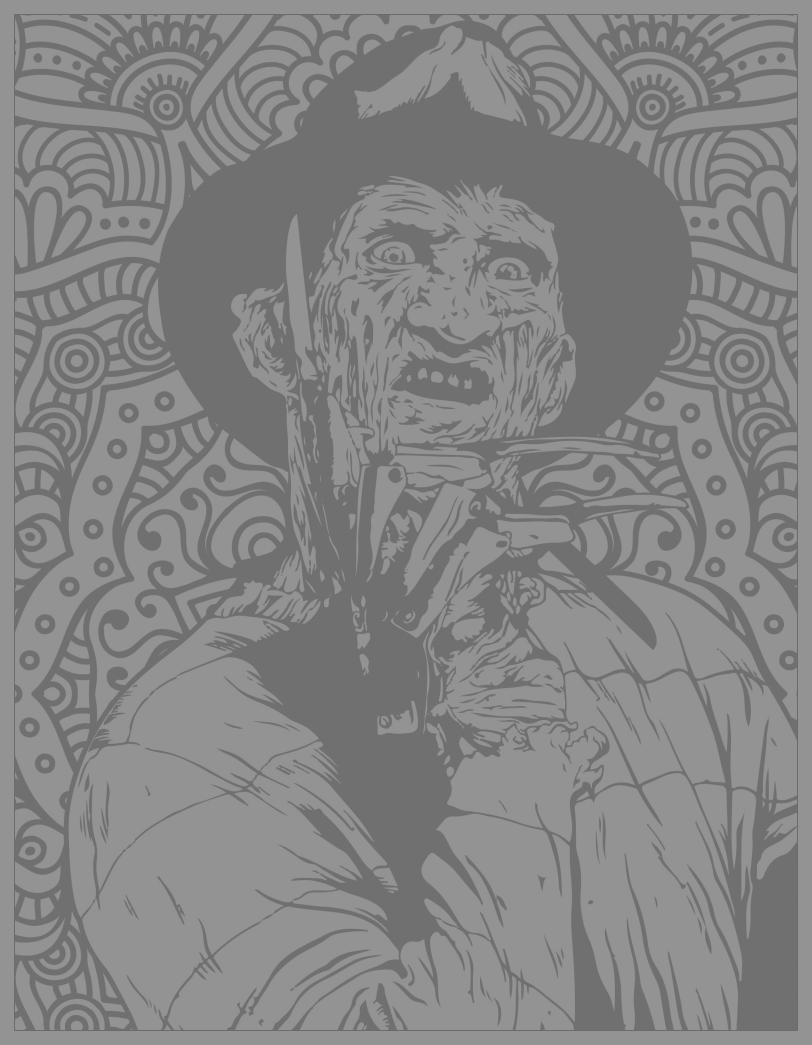 Classic horror movies coloring pages : Freddy Kruegger (Source : Costume SuperCenter. Find Freddy Krueger costumes here)