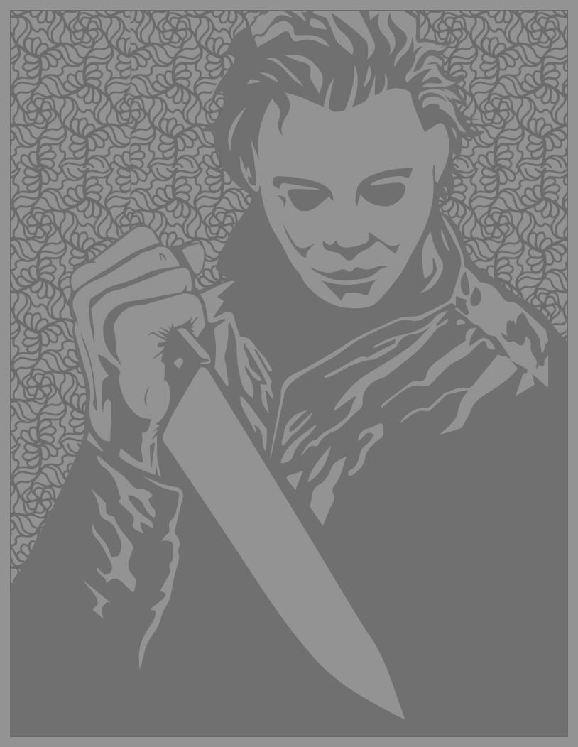 Classic horror movies coloring pages : Michael Myers (Halloween movies) (Source : Costume SuperCenter. Find Michael Myers costumes here)