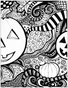 Halloween on Coloring pages for adults
