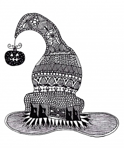 coloring-adult-halloween-zentangle-witch-hat