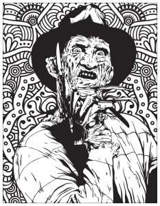Horror coloring page freddy krueger