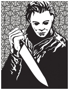 Horror coloring page michael myers
