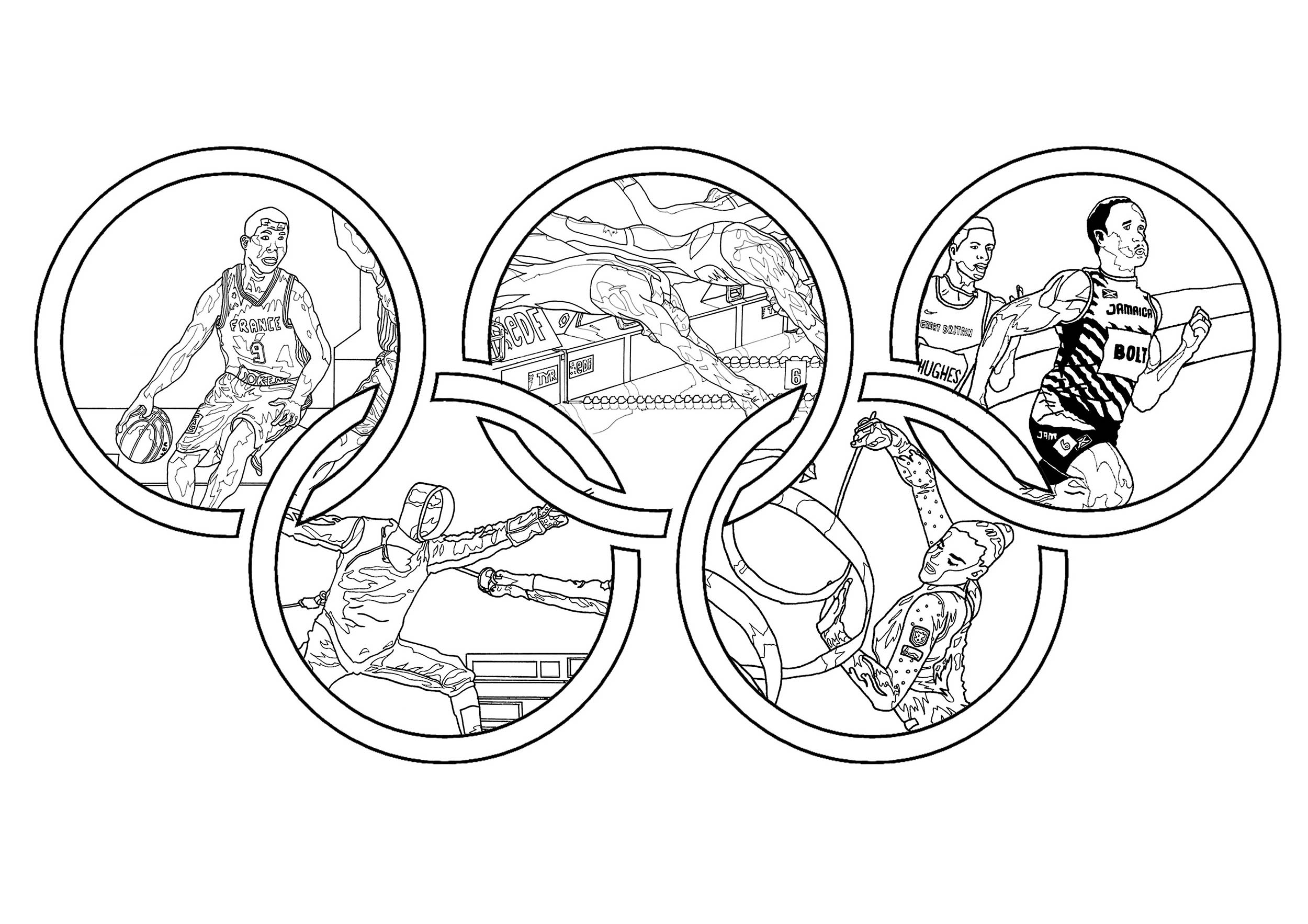 Olympic games Olympic sport Adult Coloring Pages