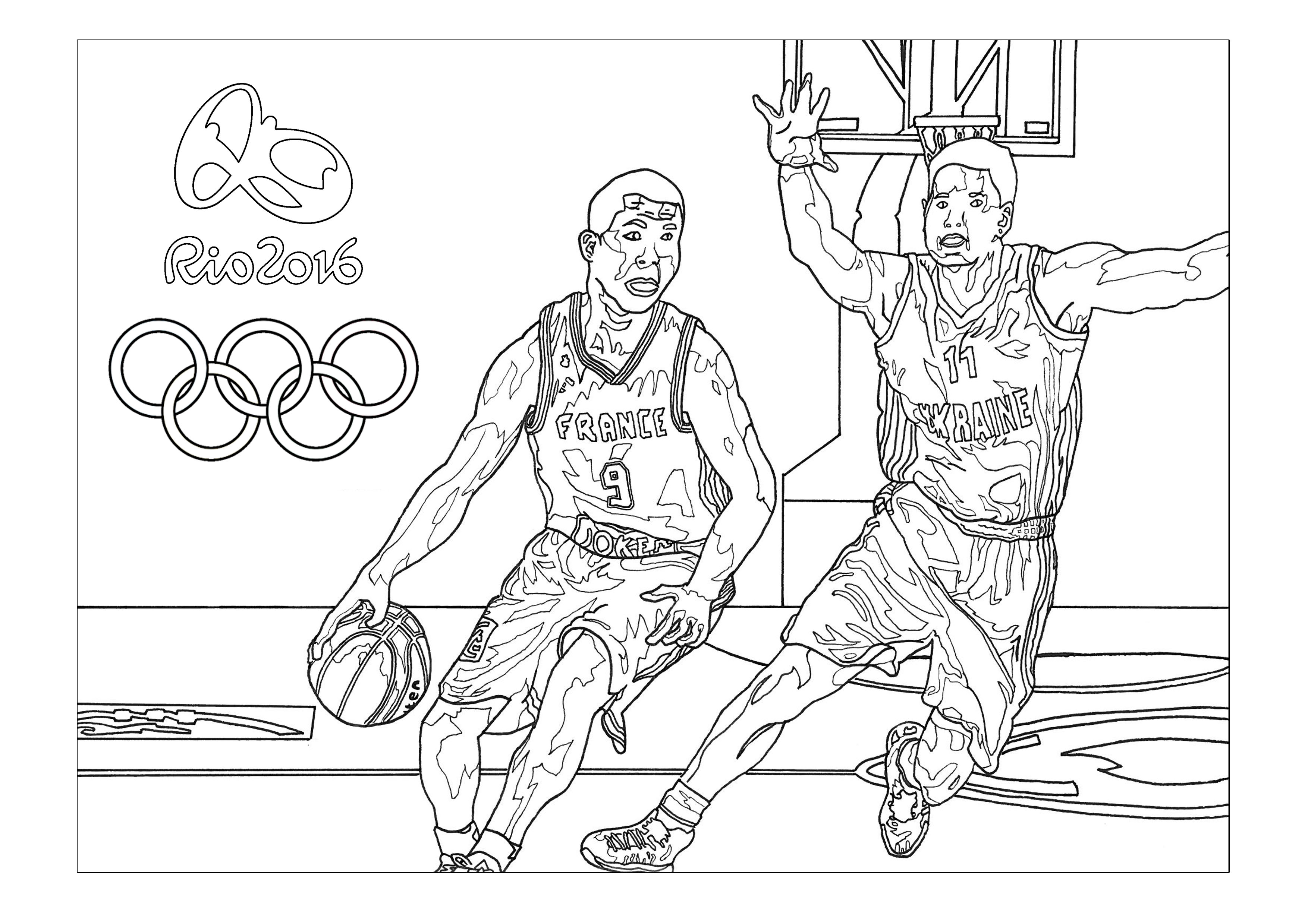 Rio 2016 olympic games basketball | Olympic (and sport) coloring ...
