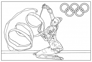 Coloring adult olympic games gymnastic