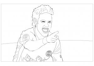 Coloring neymar jr 2