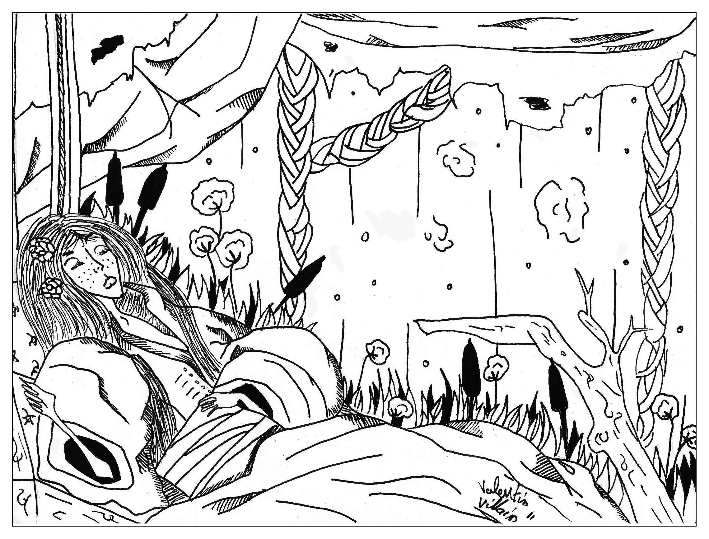 coloring page slepping beauty colors the sleeping beauty for wake up her
