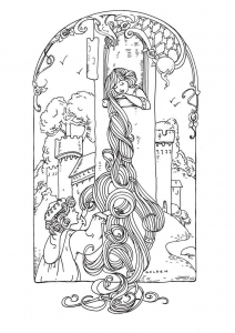 coloring-adult-rapunzel