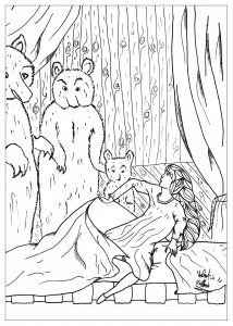 coloring page adults goldlocks - Fantasy Coloring Pages Adults