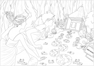 Free Printable Adult Coloring Pages Fairy, Download Free Clip Art ... | 211x300