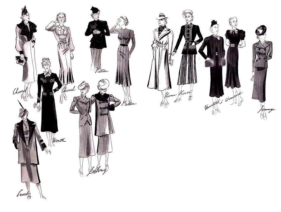 Croquis mode 1937